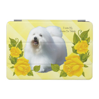 Coton De Tulear with Yellow Rose iPad Mini Cover