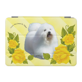 Coton De Tulear with Yellow Roses iPad Mini Cover