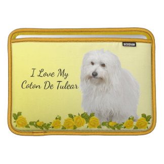 Coton De Tulear with Yellow roses Sleeve For MacBook Air