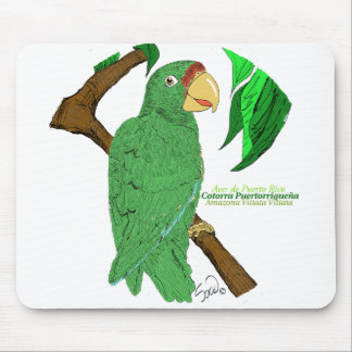 Cotorra Puertorriqueña/Puerto Rican Parrot Mouse Pad
