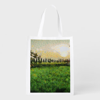 Cottage and farm reusable grocery bag