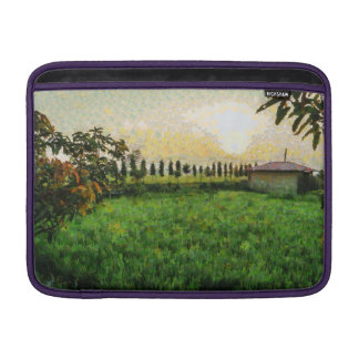 Cottage and farm sleeve for MacBook air