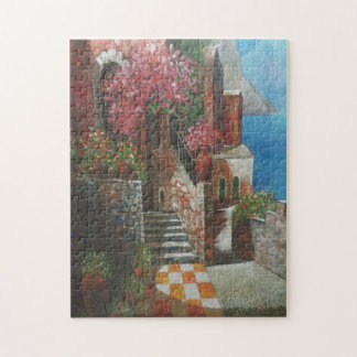 Cottage and Floral Photo Puzzle