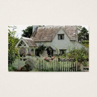 Cottage anglais cartes de visite