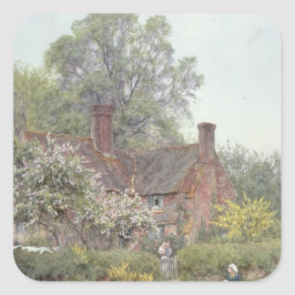 Cottage at Chiddingfold Square Sticker