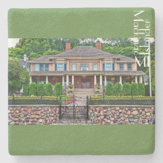 Cottage  at Mackinac Island MI Stone Coaster