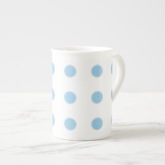 Cottage Blue Polka Dots on White Tea Cup