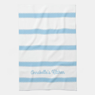 Cottage Blue Ribbons Personalized Kitchen Towels