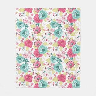 Cottage Chic Floral Fleece Blanket