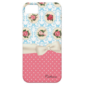 Cottage Chic Roses & Polka Dots iPhone 5 Case