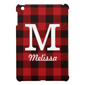 cottage Christmas plaid Red buffalo lumberjack iPad Mini Case