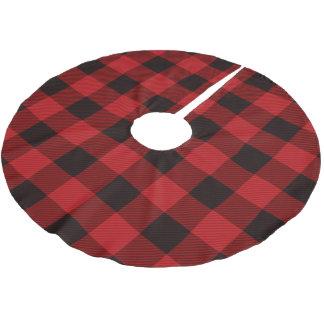 cottage Christmas Red buffalo lumberjack plaid Brushed Polyester Tree Skirt