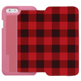 cottage Christmas Red buffalo lumberjack plaid Incipio Watson™ iPhone 6 Wallet Case