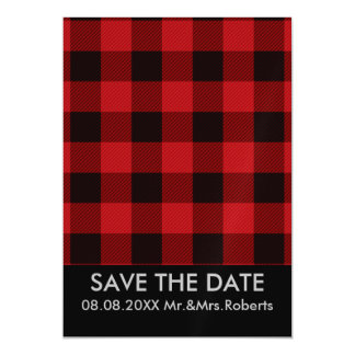 cottage Christmas Red buffalo lumberjack plaid Magnetic Card