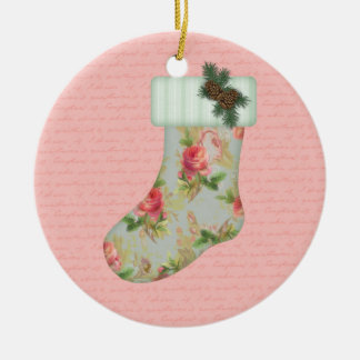 Cottage Christmas Stocking Ornament