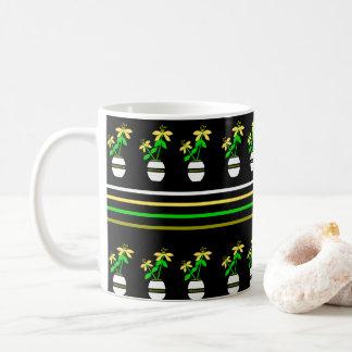 Cottage Craft Flower Black Mug
