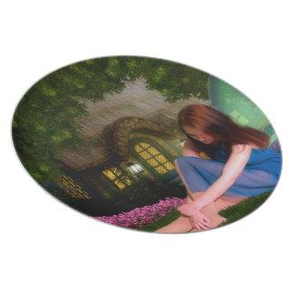 Cottage Fairy Plates