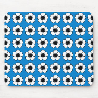 Cottage-Floral_Vintage-Modern-Decor-Blue_Unisex Mouse Pad