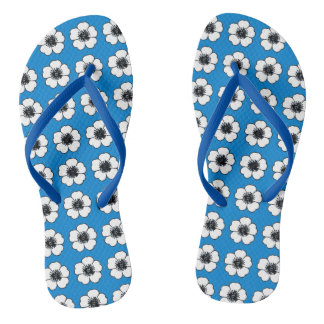 Cottage-Flowers-Blue-Multi-Styles_Colors Flip Flops