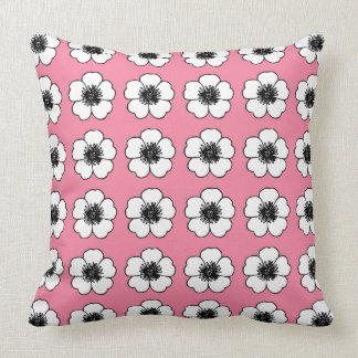 Cottage-Flower's-Blush-Pink(c) Lumbar & Multi-Sz Throw Pillow