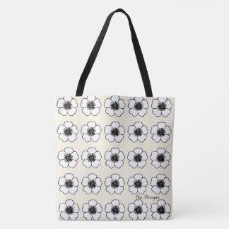 Cottage-Flowers(c) Bridal Cream* Petunia'_Multi-Sz Tote Bag
