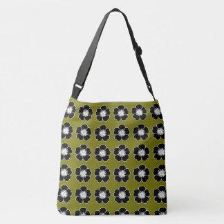Cottage_Flowers(c) Olive & White-Multi-Sz Crossbody Bag