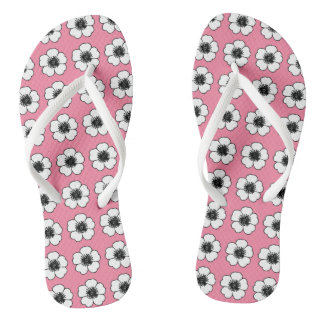 Cottage-Flowers-Pink-Multi-Styles_Colors Flip Flops