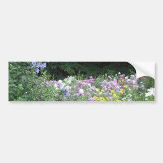 Cottage Garden - Flowers and Woods Bumper Sticker