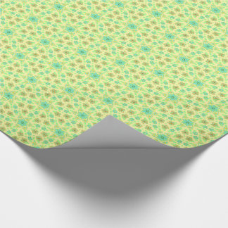 Cottage garden flowers wrapping paper
