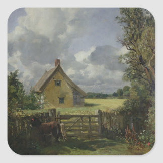 Cottage in a Cornfield, 1833 Square Sticker
