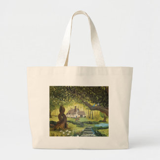 Cottage in the Woods Large Tote Bag