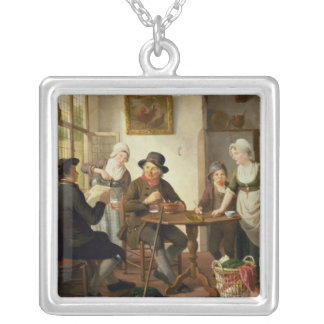 Cottage Interior Silver Plated Necklace