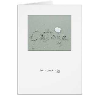 Cottage Love - Peace - Joy Card