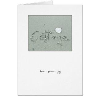 Cottage Love - Peace - Joy Greeting Card
