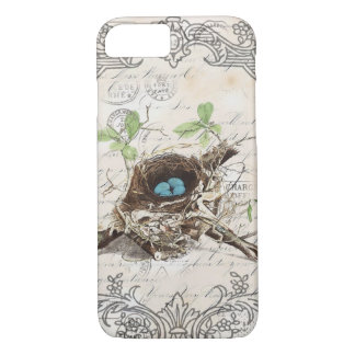 Cottage modern vintage french country birdnest iPhone 8/7 case