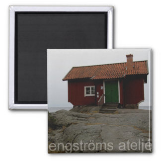 Cottage overlooking the sea. magnet