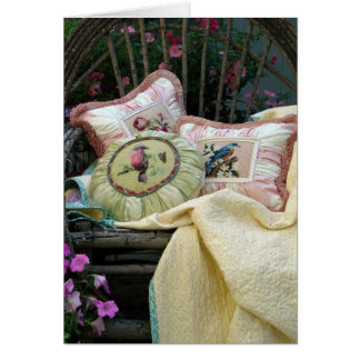 cottage porch pillows card