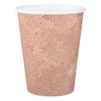 Cottage Rose Gold Copper Blush Skinny Golden Paper Cup