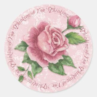 Cottage Rose Thinking of You Sticker - SRF