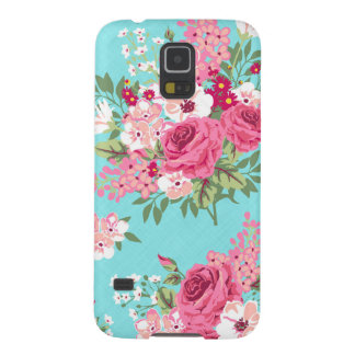 Cottage Shabby Chic Vintage Roses & Lilacs Floral Case For Galaxy S5