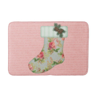 Cottage Stocking Christmas Bath Mat