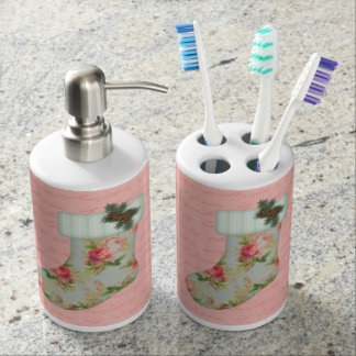 Cottage Stocking Toothbrush Holder/Soap Dispenser