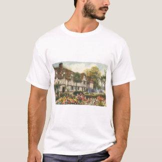 Cottage vintage de l'anglais de jardin formel t-shirt