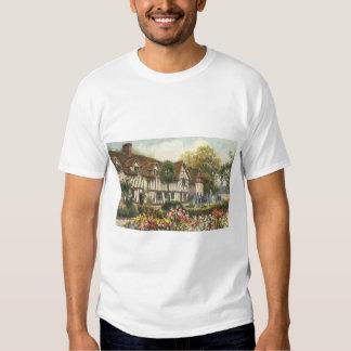 Cottage vintage de l'anglais de jardin formel tshirts