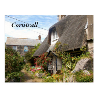 Cottages at Cadgwith Cornwall Photograph Postcard