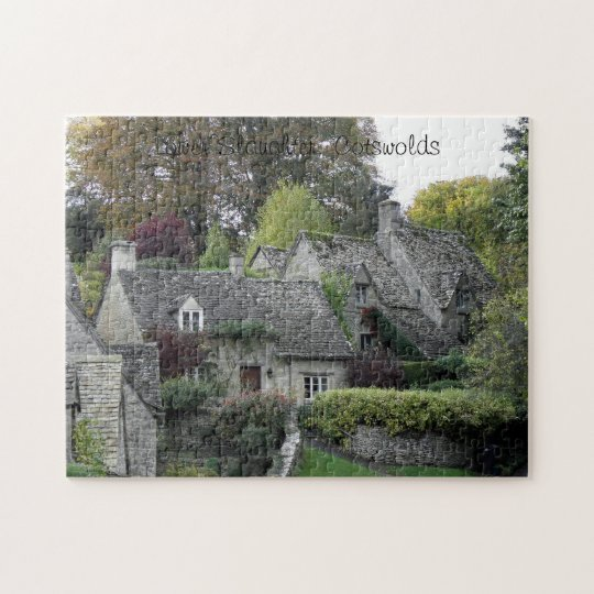 Cottages in Lower Slaughter, Cotswolds Jigsaw Puzzle