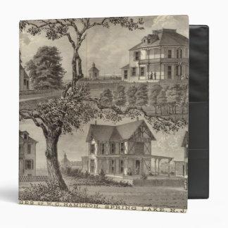 Cottages of WC Hamilton, Spring Lake, NJ Vinyl Binder