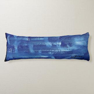 Cotton body pillow, blue. body pillow