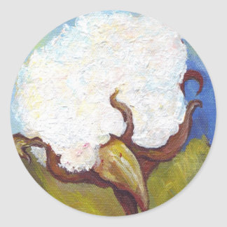 Cotton Boll from MS Classic Round Sticker