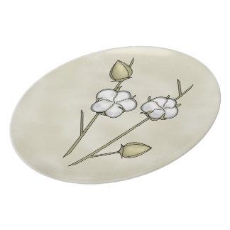 Cotton Boll Plates